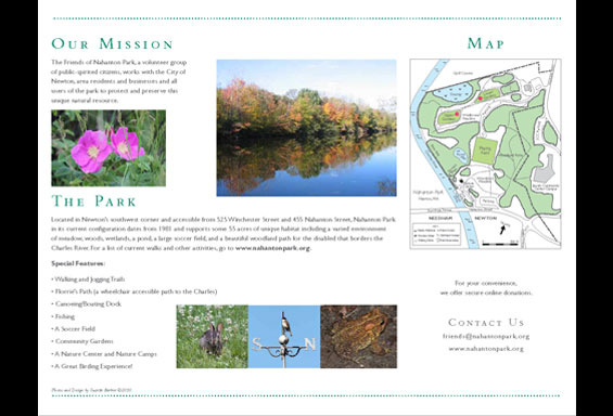 Friends of Nahanton Park Brochure - Inside