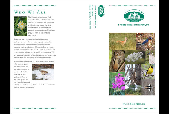 Friends of Nahanton Park Brochure - Outside