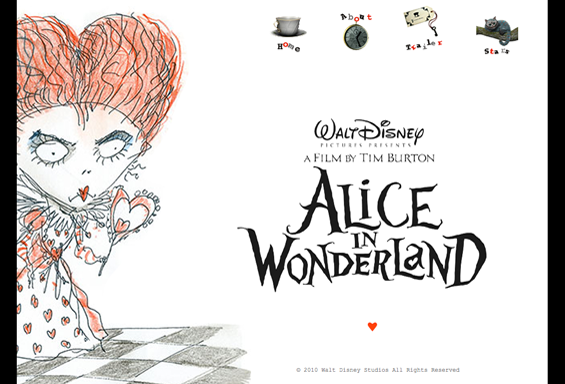 Alice in Wonderland Website Concept